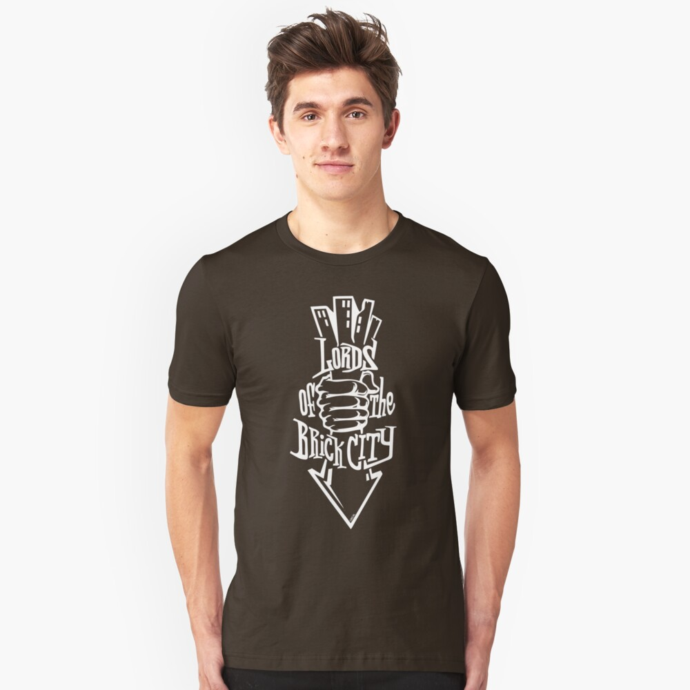 'Lords of the Brick City' (w) Unisex T-Shirt Front