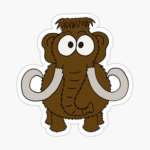 Georges le mammouth, version marron Sticker