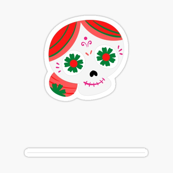 day of dead granny Sticker