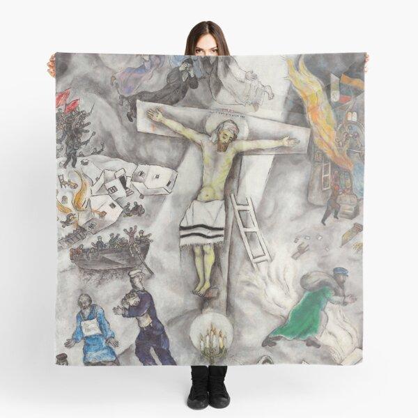 Crucifixión de los blancos - Marc Chagall Pañuelo