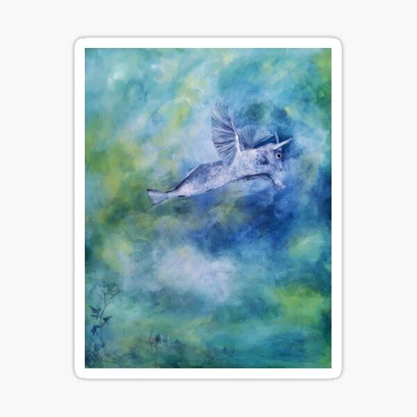 Ein Capricorn in den Wolken Sticker