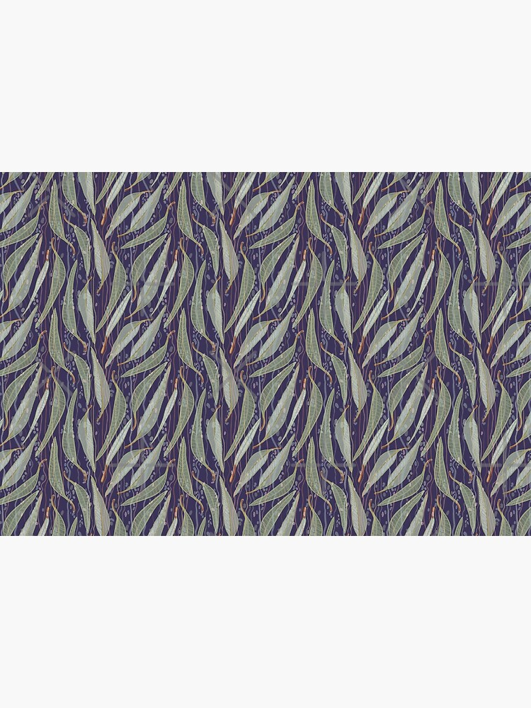 Bush Eucalyptus River leaves - Purple and Green Colour Palette by sketchbookjo