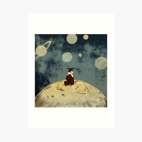 Endless opportunities  - dog looking into space  Art Print