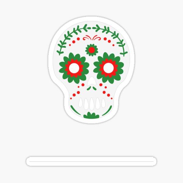 day of dead white Sticker