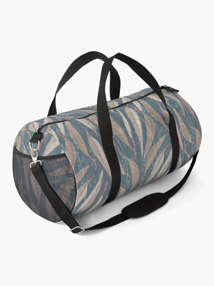 Alternate view of Bush Eucalyptus River leaves - Brown and Green Colour Palette Duffle Bag