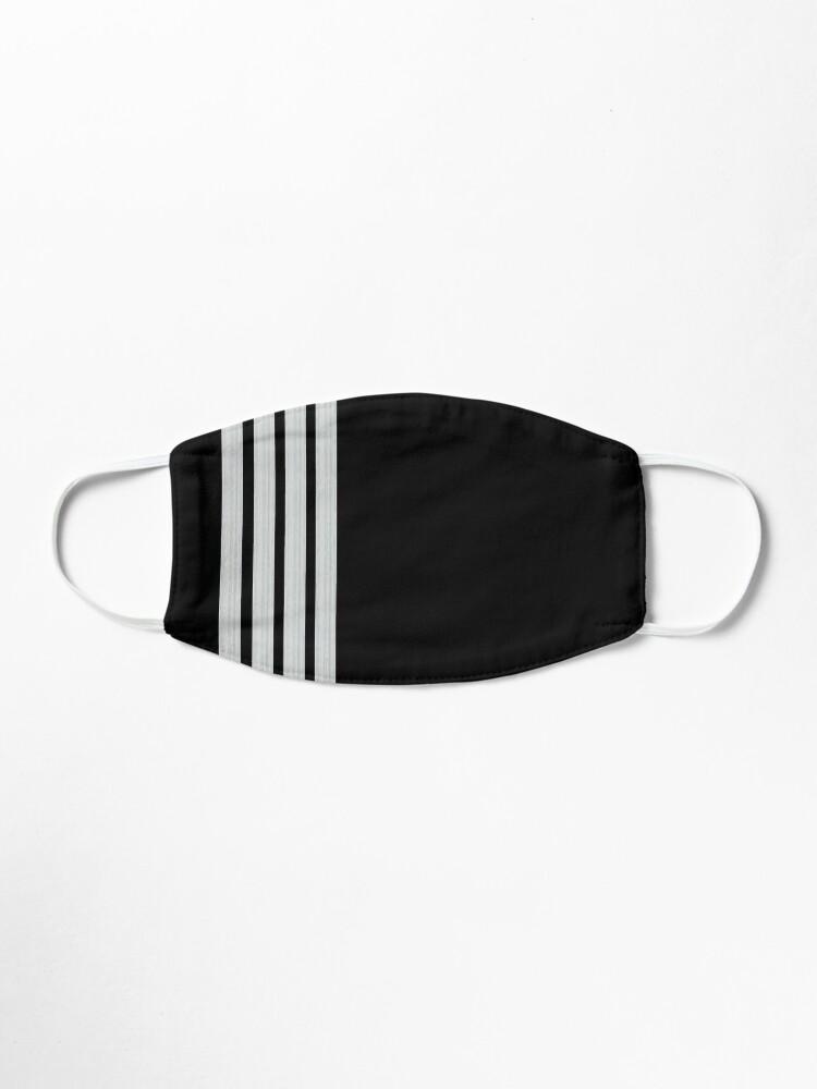 Alternate view of Silver Captain epaulets Mask