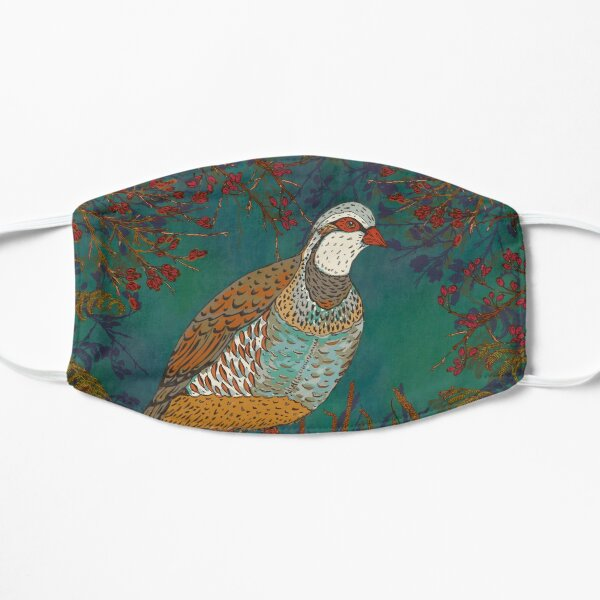 Partridge in the Hedgerow Mask