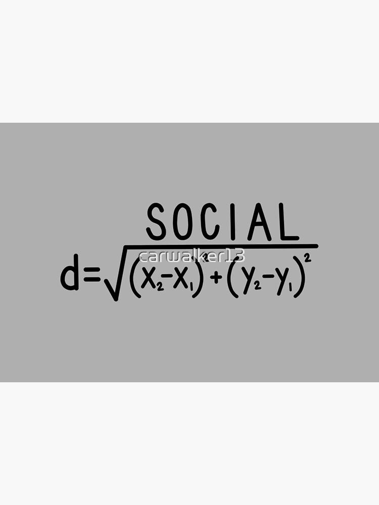 Social Distance (formula) Grey by carwalker13