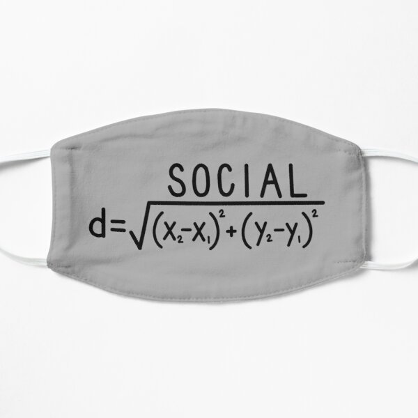 Social Distance (formula) Grey Mask