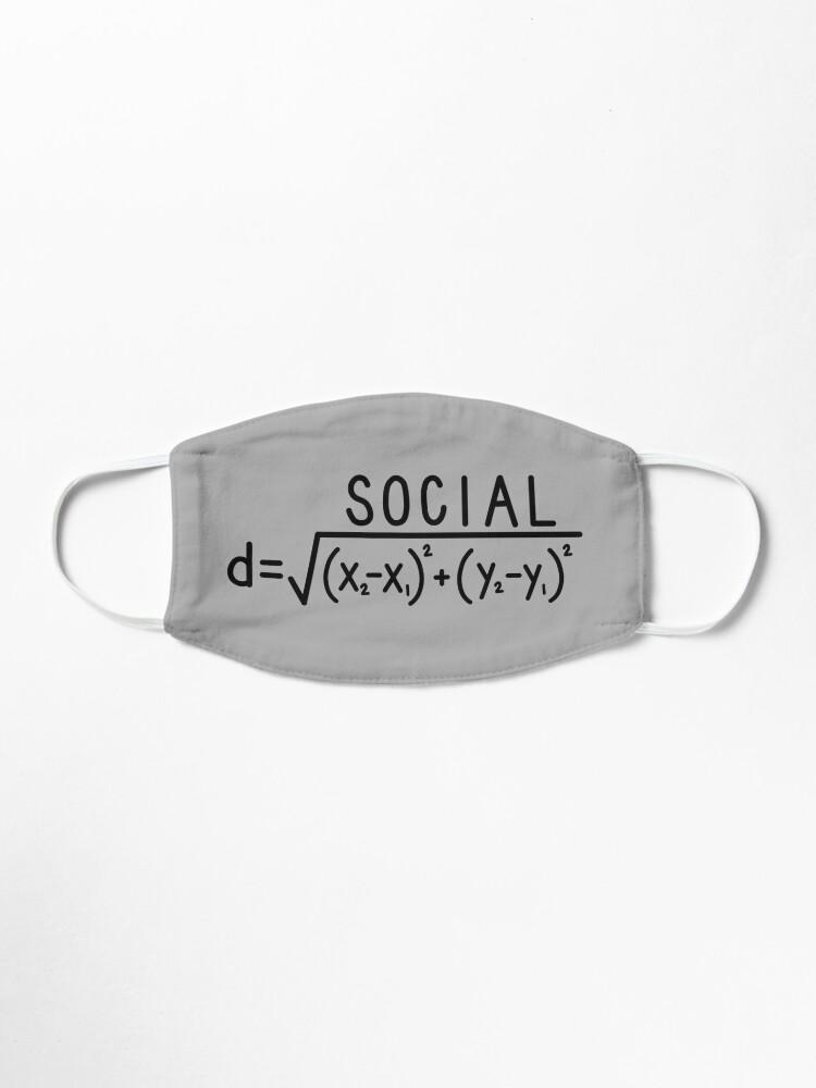 Alternate view of Social Distance (formula) Grey Mask