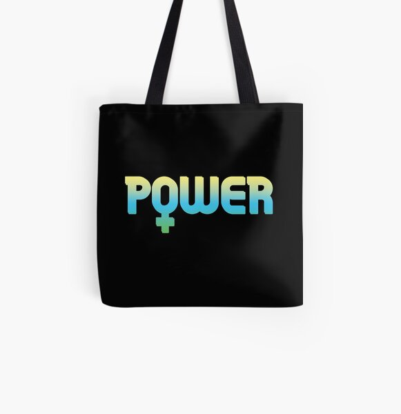 Tie Dye Girl Power, Feminist All Over Print Tote Bag