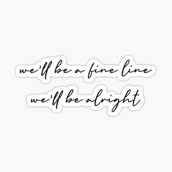 Fine Line by Harry Styles Lyrics Sticker
