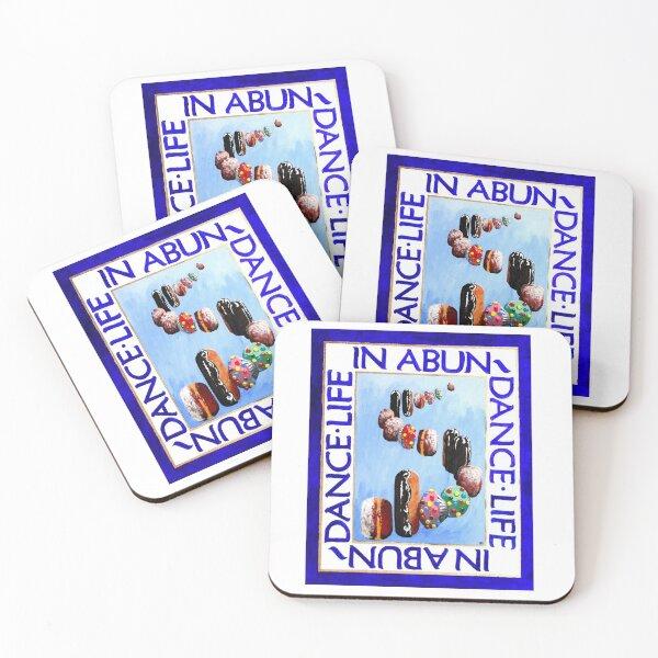 Life in a Bun Dance Coasters (Set of 4)