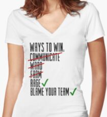 Ways To Win Women's Fitted V-Neck T-Shirt