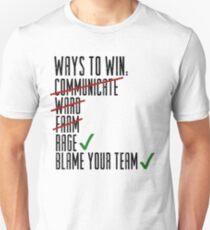 Camiseta ajustada Formas de ganar