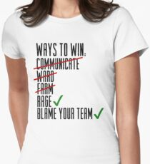 Ways To Win Women's Fitted T-Shirt