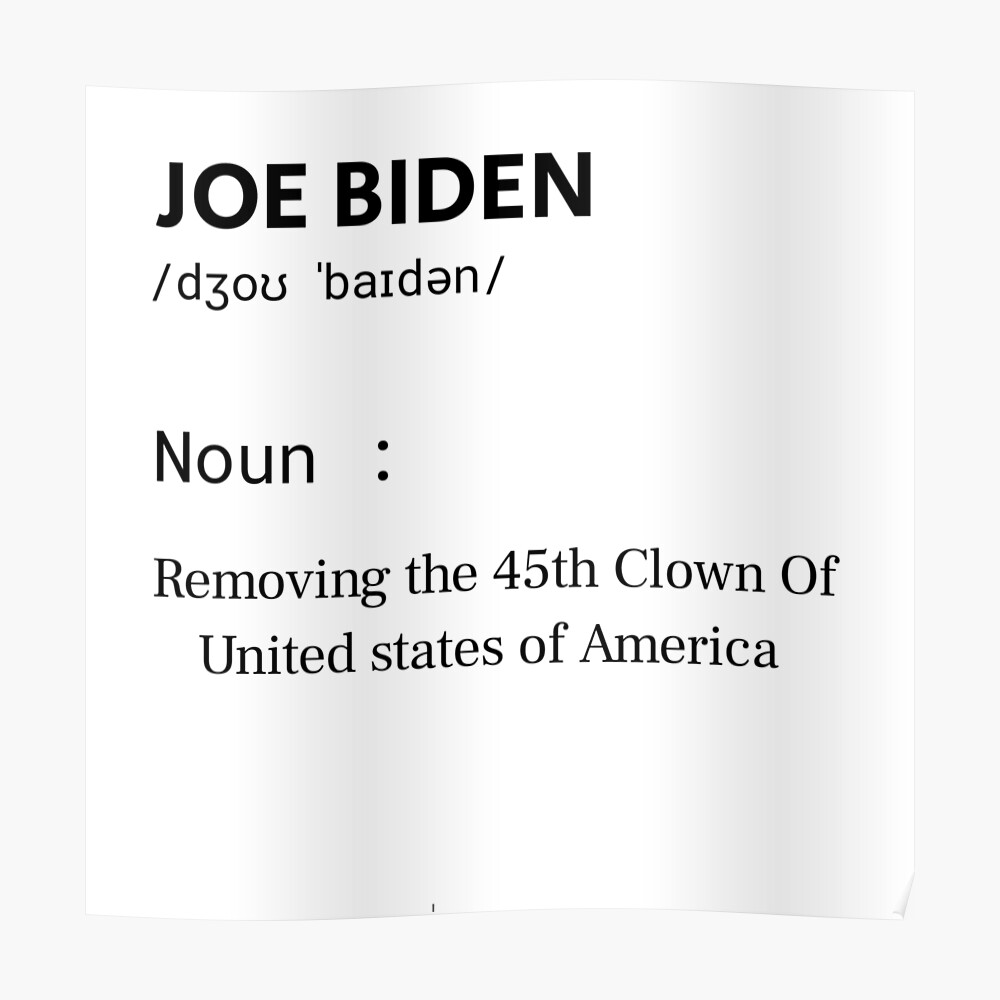 Joe Biden Meaning Sticker By Larbiadel91 Redbubble If your children are also threes, by no means focus on their weaknesses and shortcomings. redbubble