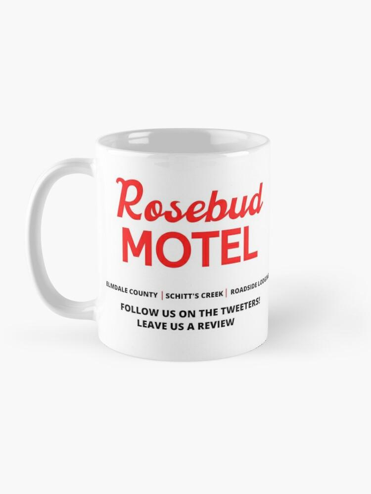 Alternate view of Schitt's Creek Rosebud Motel Logo Mug
