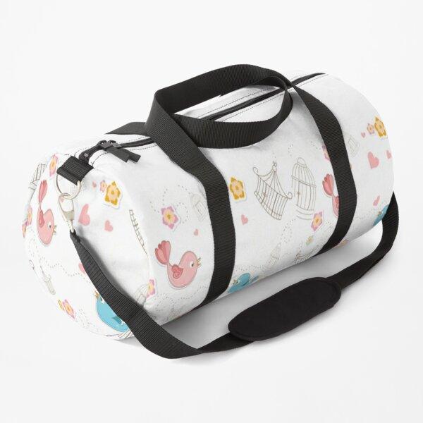 funny love birds pattern Duffle Bag