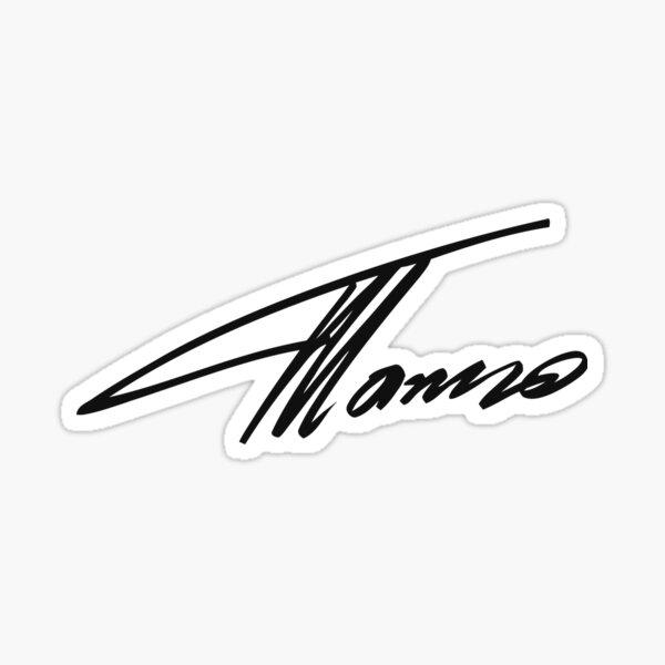 Firma de Fernando Alonso Pegatina