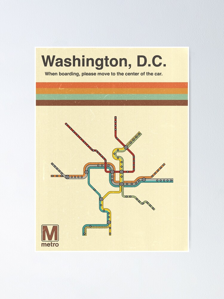 Alternate view of Washington, D.C. Metro Poster