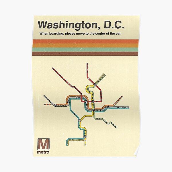 Washington, D.C. Metro Poster