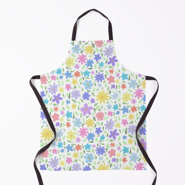 Colourful flower pattern  Apron