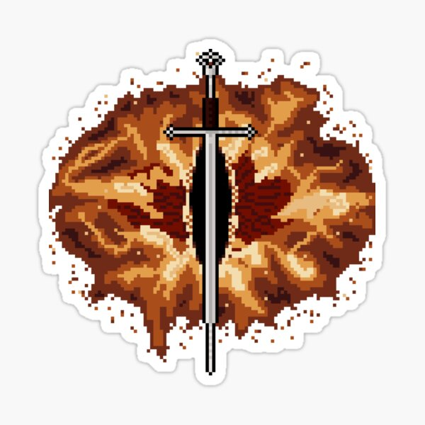 """""""8-Bit"""" Flame of the West and Eye Wreathed in Flame Sticker"""