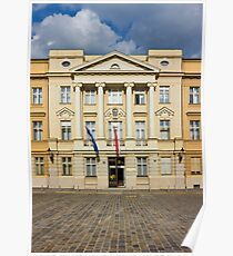 The Parliament of Croatia Facade Poster