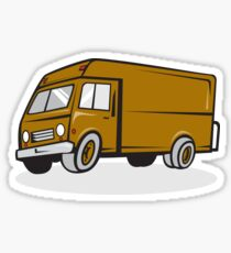 Delivery Van Side Isolated Cartoon Sticker