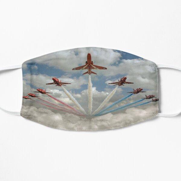 Red Arrows smoke on Flat Mask