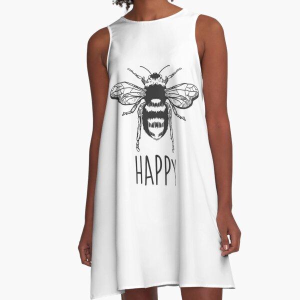 Bee Happy A-Line Dress