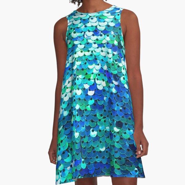 Beautiful sequins texture A-Line Dress