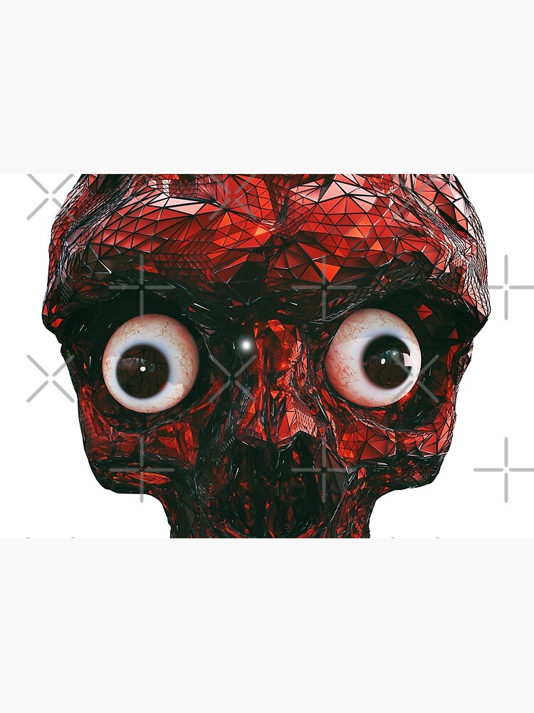 BOO BOO RED SKULL WITH EYES  by gigigvalia