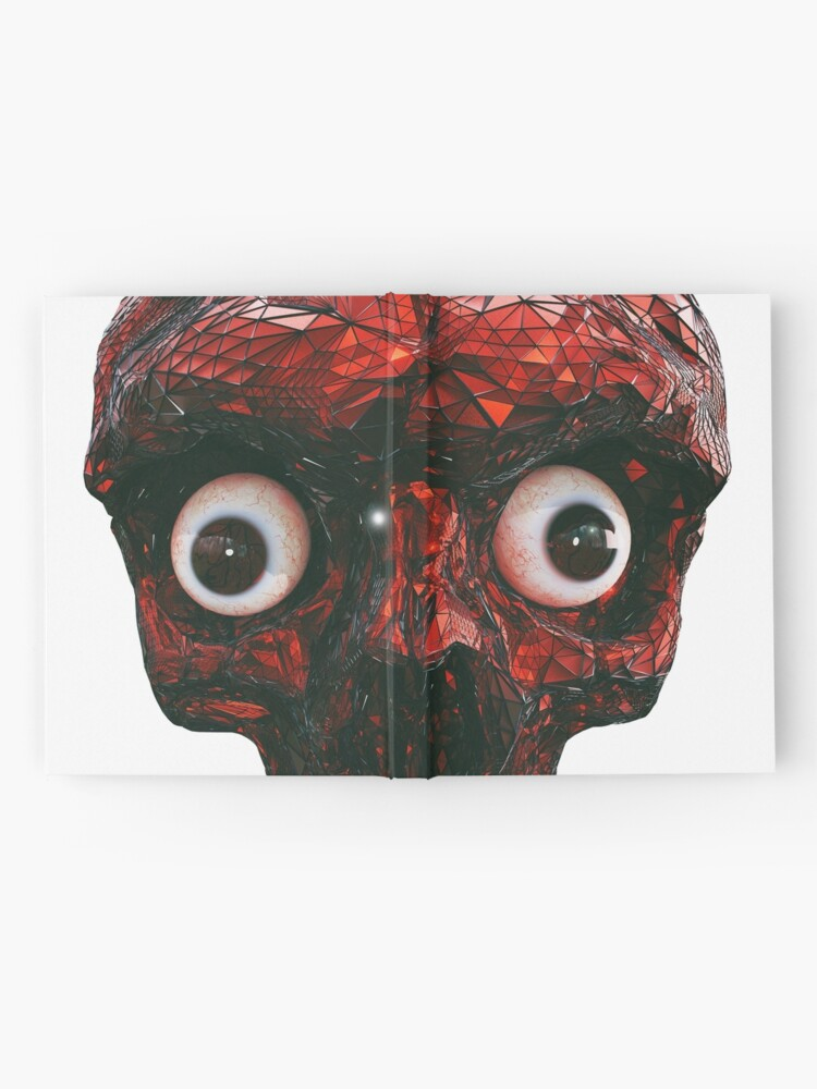 Alternate view of BOO BOO RED SKULL WITH EYES  Hardcover Journal