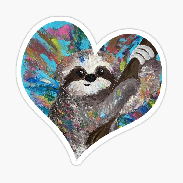 Sloth with Pride (Heart Cutout) Sticker