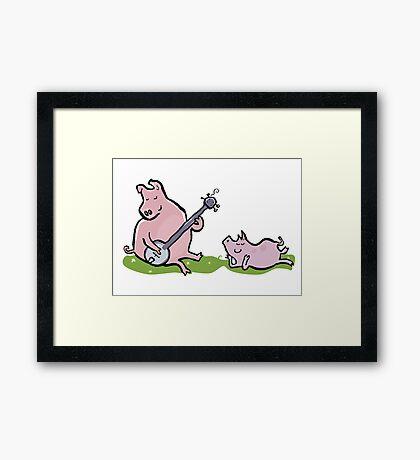musical pigs Framed Print