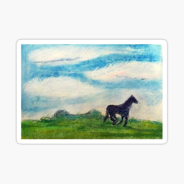 Das blaue Pferd ohne Namen Sticker