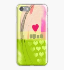 Corner of pink heart iPhone Case/Skin