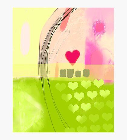 Corner of pink heart Photographic Print