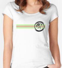 Fresh Life Bass Stripes T-Shirt Women's Fitted Scoop T-Shirt