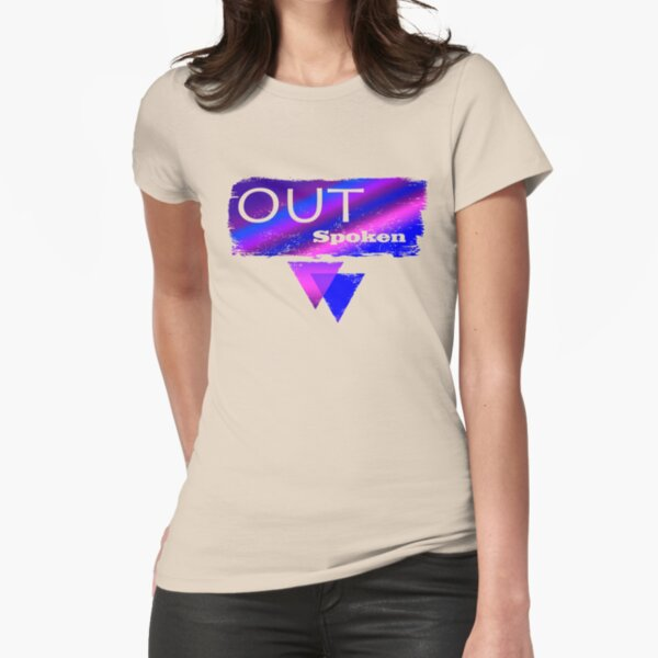 Out Spoken Bisexual Fitted T-Shirt