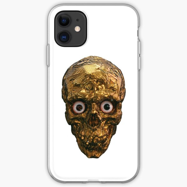 BOO BOO GOLD SKULL WITH EYES iPhone Soft Case