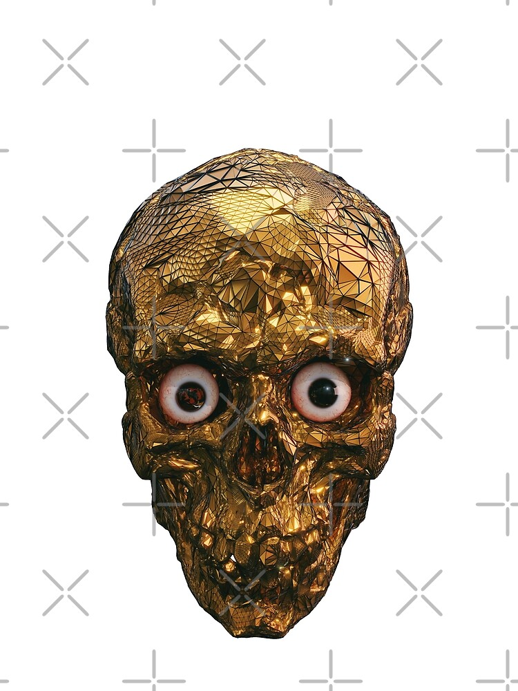 BOO BOO GOLD SKULL WITH EYES by gigigvalia
