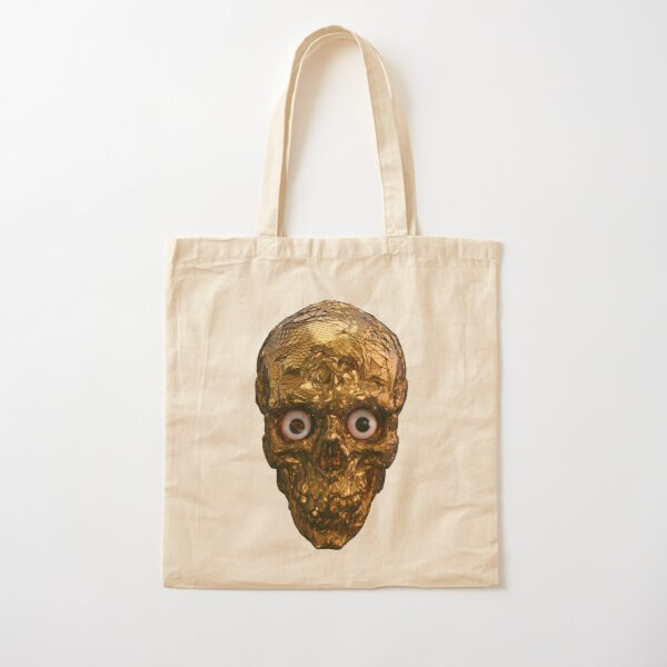 BOO BOO GOLD SKULL WITH EYES Cotton Tote Bag