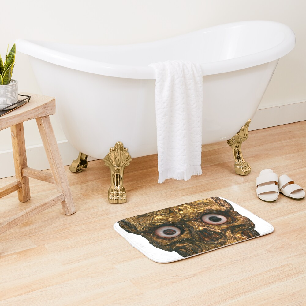 BOO BOO GOLD SKULL WITH EYES Bath Mat