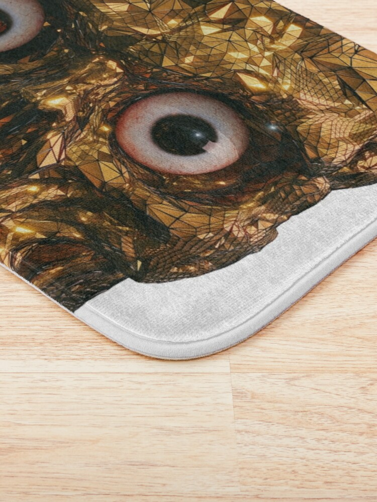 Alternate view of BOO BOO GOLD SKULL WITH EYES Bath Mat