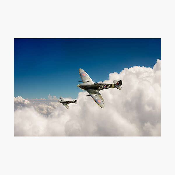 222 Squadron Spitfires Photographic Print
