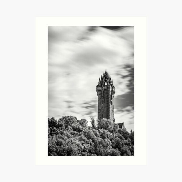 Wallace Monument Black and White Art Print