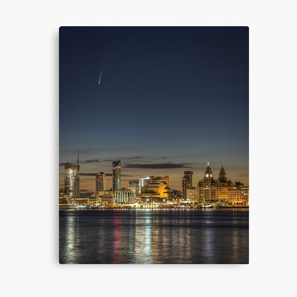 Neowise over Liverpool  Canvas Print